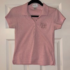 Cute Antigua pink Pirates polo with snap front SzS